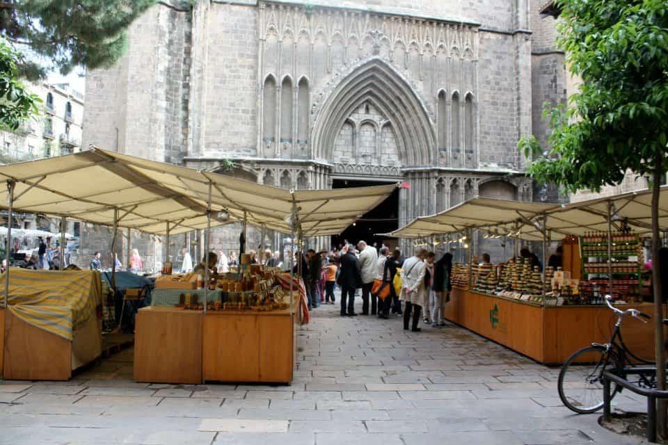 Outdoor market in Barcelona