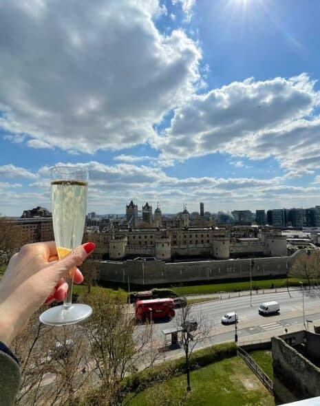Prosecco on a rooftop