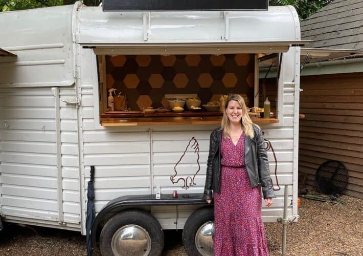 Food van in the Cotswolds