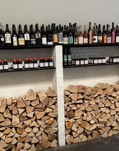 Wine selection at Timberyard