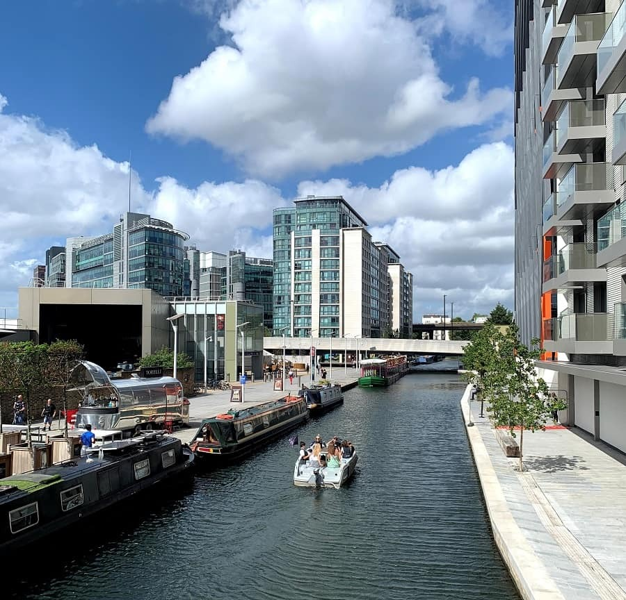 A GoBoat on the canal in Paddington