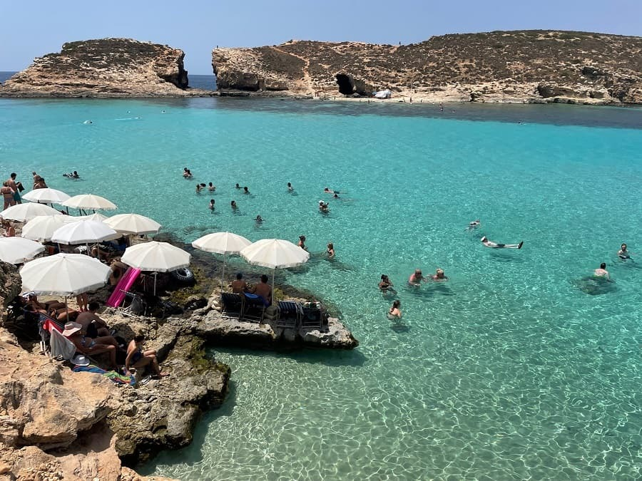 Stunning clear water at the Blue Lagoon in Malta