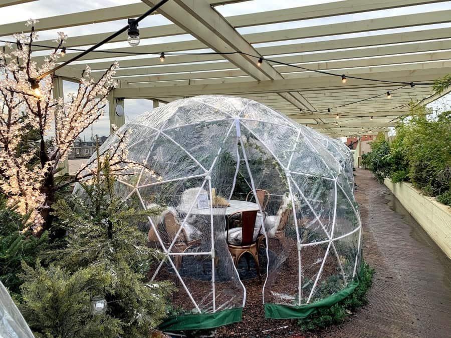 Igloo Christmas pod at Pergola