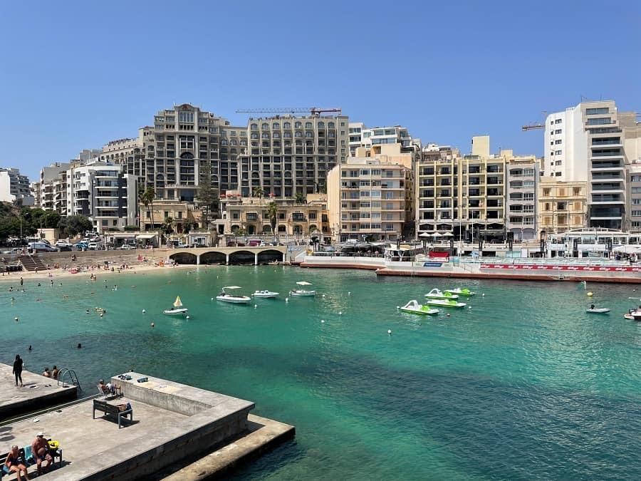 St Julian's Bay in Malta