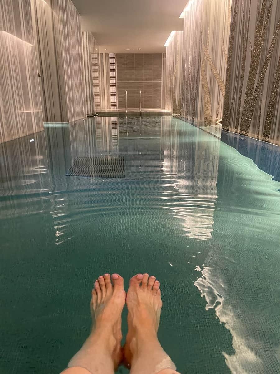 Vitality pool at Four Seasons spa