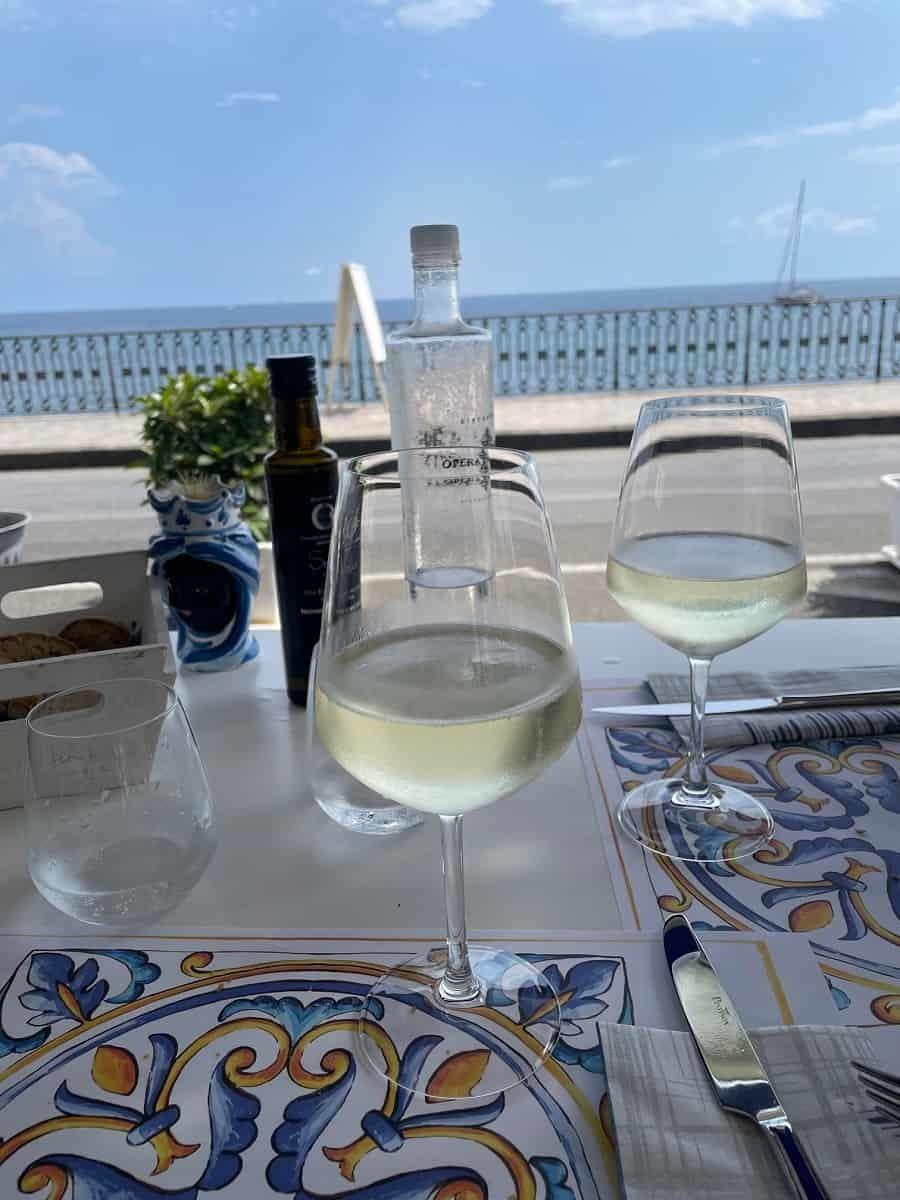 Views of the beach from Ristorante Opera Prima