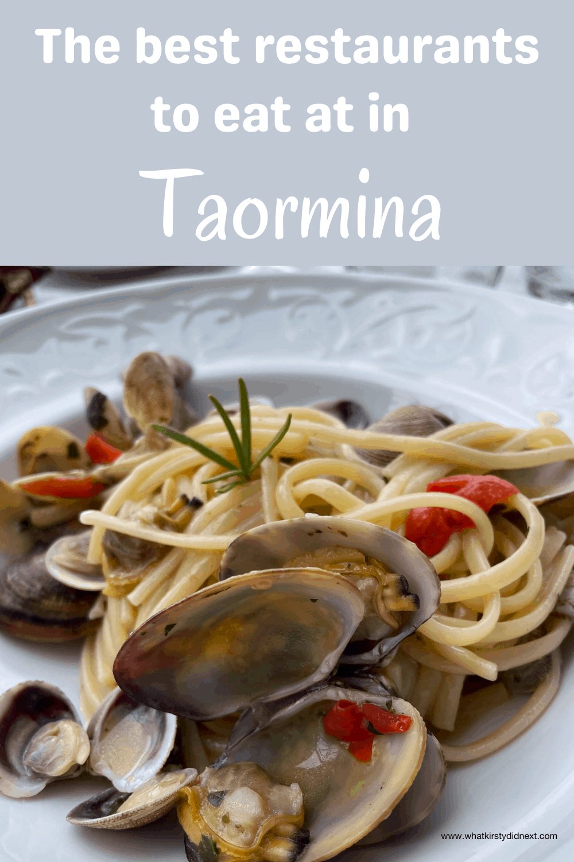 The best restaurants in Taormina