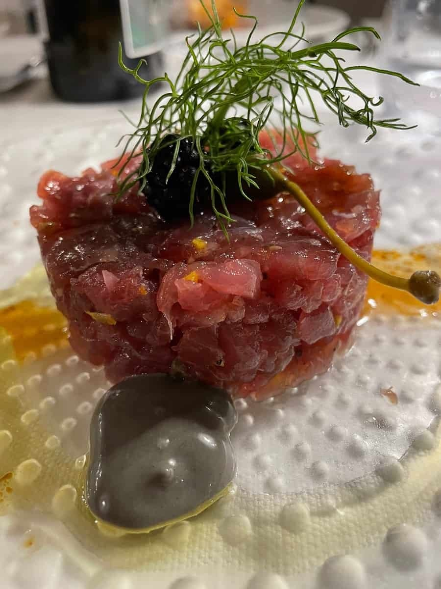 Tuna tartare from Bistrot du Monde in Taormina